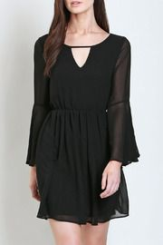 Midnight Chiffon Dress