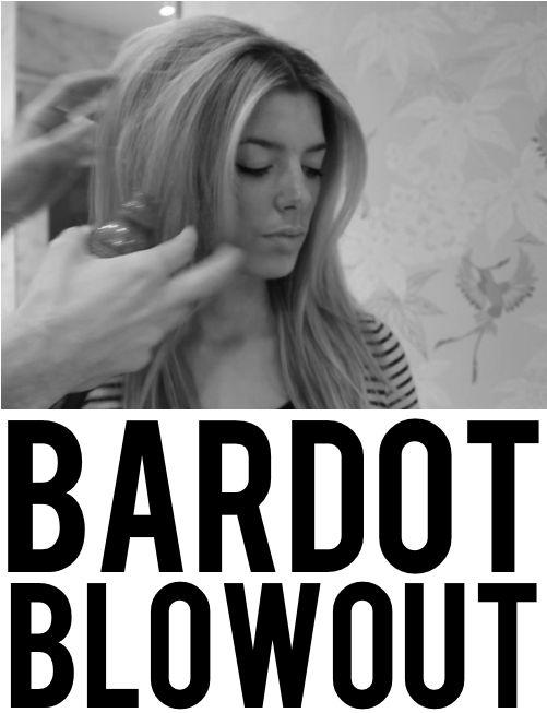 Brigitte Bardot blowout tutorial