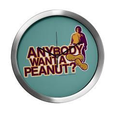 """Anybody Want a Peanut"" Princess Bride Wall Clock"