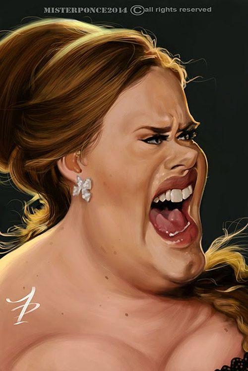 Caricatura de Adele ~ Ʀεƥɪииεð вƴ╭•⊰✿ © Ʀσxʌиʌ Ƭʌиʌ ✿⊱•╮: