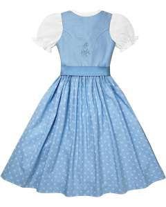 Mädchen-Dirndl mit Bluse und Seidenschürze von LODENFREY