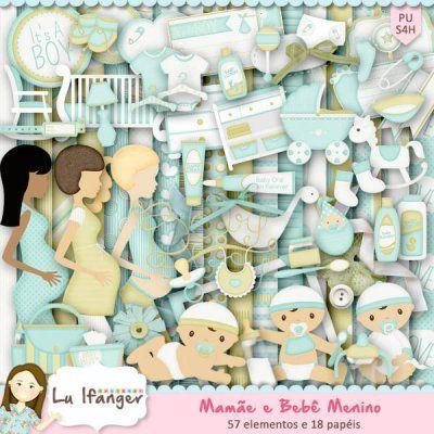 Kit Digital Mamãe e Bebê Menino by Lu Ifanger - R$14,00 : Boutique do Scrap