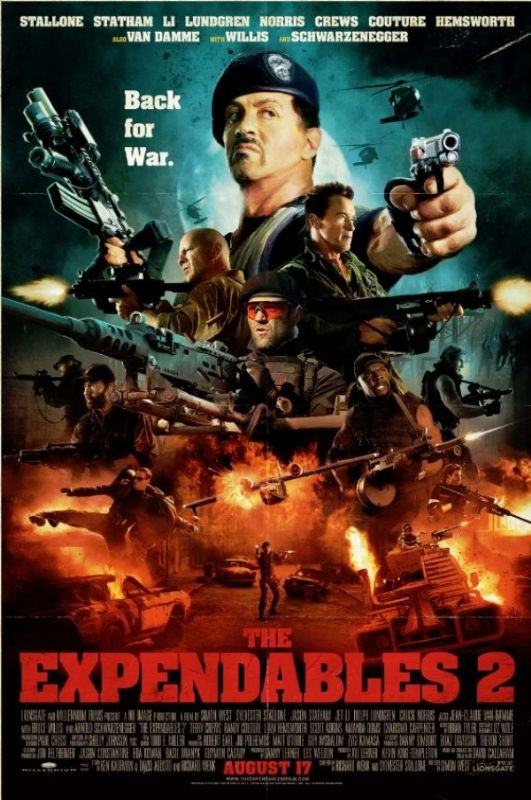 The latest The Expendables 2 poster boasts more arms than a Hindu ...