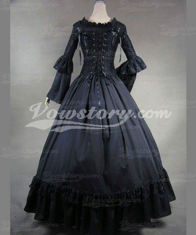 Ball Gown Floor-Length Gothic Wedding Dress (HGT001)