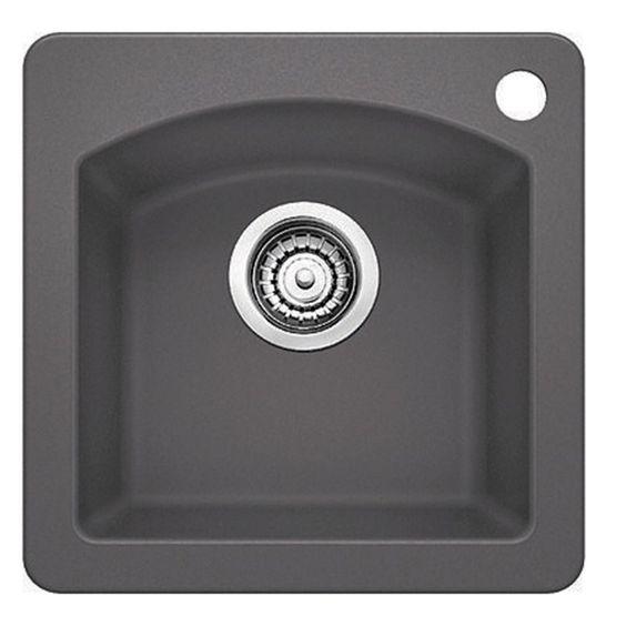 Diamond 15 Single Bowl Silgranit Dual Mount Bar Sink In 2020 Bar Sink Kitchen Sink Design Sink