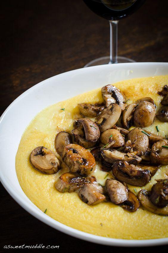 ... mushrooms on polenta creamy polenta with roasted mushrooms polenta