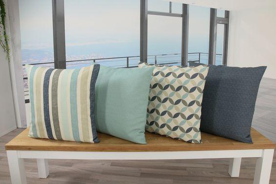 Kissenhüllen mit verschiedenen Motiven und Farben. Zu dem jeweiligen Muster ist es möglich Tischsets, Tischdecken und Tischläufer zu bekommen.
