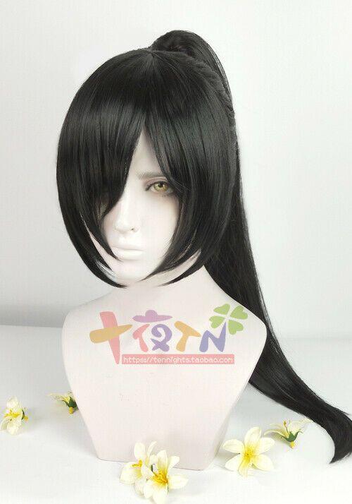 Anime Dororo Hyakkimaru Black Ponytail Clip Hair Styled Cosplay Wigs Ad Sponsored Black Ponytail Hyakk Cosplay Hair Short Human Hair Wigs Short Hair Wigs