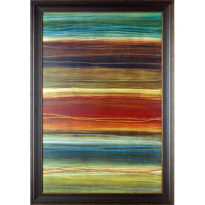 North American Art 'Organic Layers II' by Jeni Lee Framed Painting Print