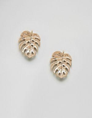 ASOS DESIGN - Boucles d'oreilles feuilles de palmier