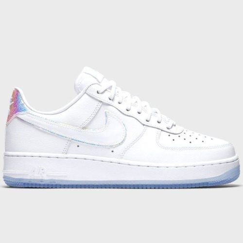 NIKE AIR FORCE 1 07 PREMIUM LOW WHITE BLUE TINT 616725 105