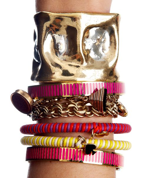 arm candy.: Arm Candie, Spade Bracelets, Fashion Style, Arm Candy Accessories, Jewelry Bracelets, Bangles Accessories, Kate Spade, Gold Bangles