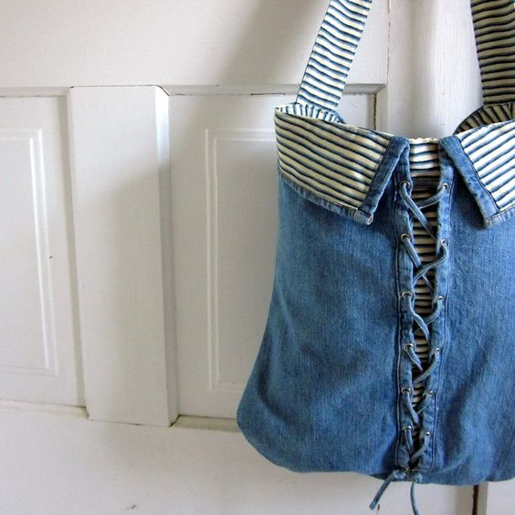 Up-cycled Jeans Bag: