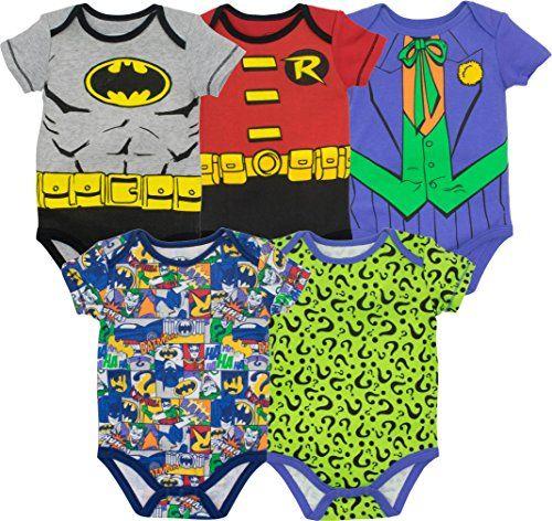 Superman The Flash Green Lantern et Aquaman Gar/çon Lot de 5 DC Comics T-Shirts Justice League Batman