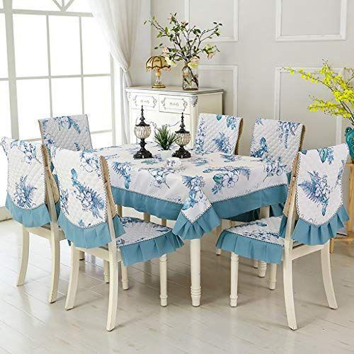 Wenjun Table Cloth Chair Cover Cushion Set Chair Cover Cover