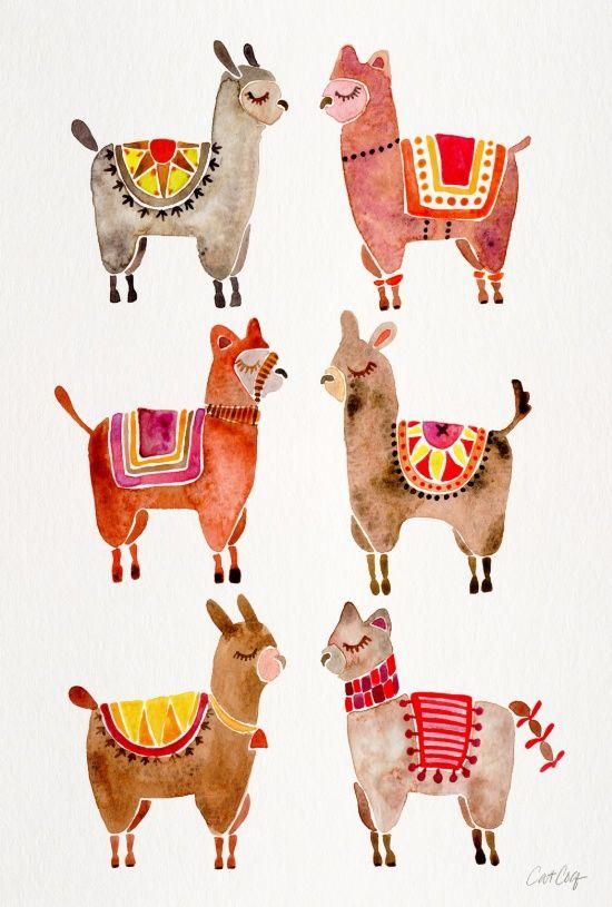 Alpacas Art Print | Editor, Cats and Unique