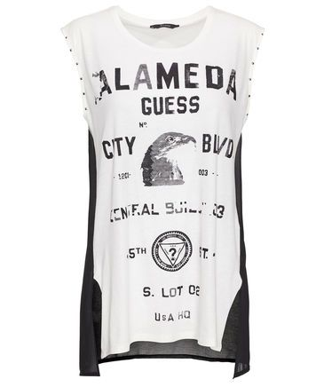 Guess - Damen Shirt Ärmellos #guess #tanktop #statement