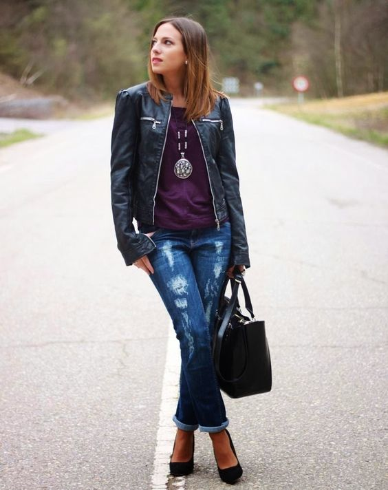 Morado & Negro | Looks and shoes
