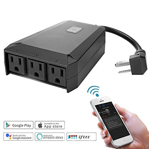 Waterproof Wifi Outdoor Plug Extender Electric Multi Outlet Splitter 3 Way Ac Power Socket S In 2020 Ac Power Remote Control Lights Timer