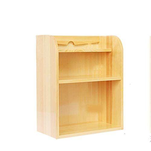 Tq 3 Tiers Office Desktop Small Bookshelf Simple Computer Desk Small Storage Rack Mini Racks Solid Wood Simple Computer Desk Small Bookshelf Small Desk