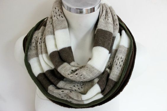 Handmade Men Infinity Scarf Moher Men Scarves by Nazcolleccolors