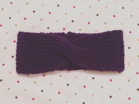 Knitted turban headband free knitting pattern