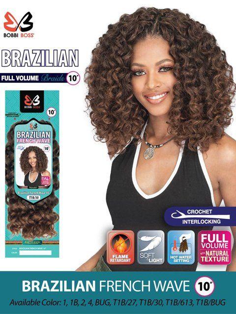 Bobbi Boss Brazilian French Wave Crochet Braid 10 Twist Braid