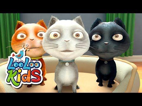 Three Little Kittens The Best Songs For Children Looloo Kids Youtube Kids Songs Little Kittens Cute Kitten Gif