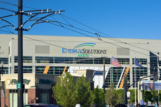 Energy Solutions Arena in Salt Lake City