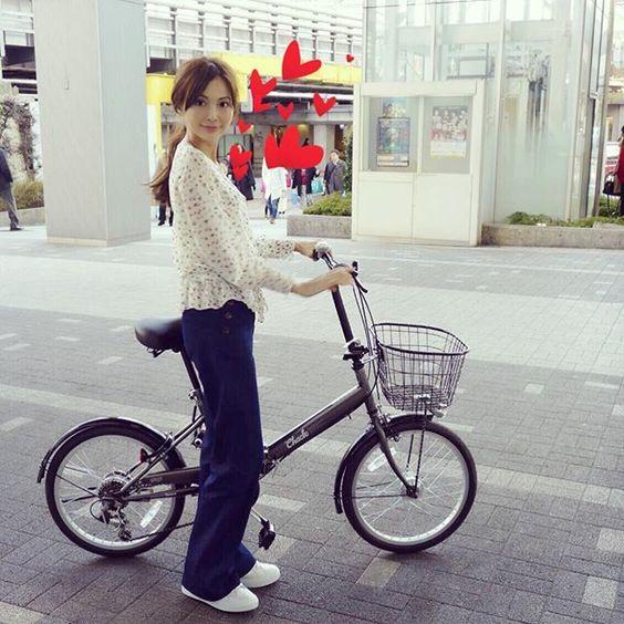 押切もえ自転車姿
