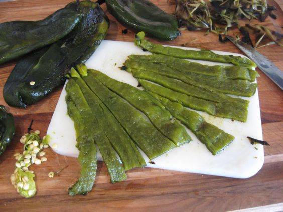 Green chile strips