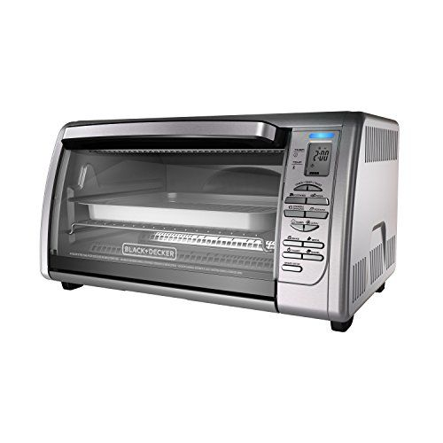 Black Decker Countertop Convection Toaster Oven Silver Cto6335s