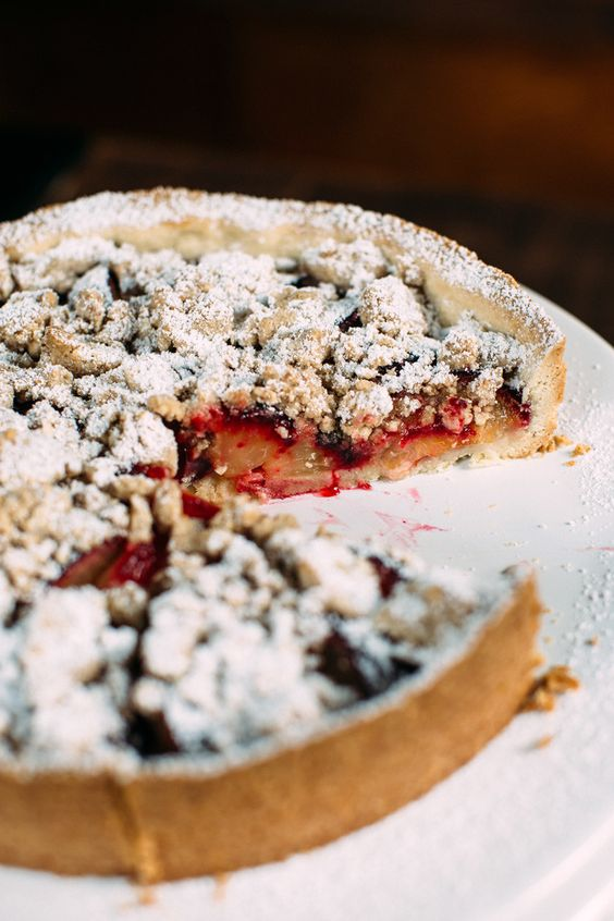In Season: Plum Tart with Almond Streusel - Hither & Thither