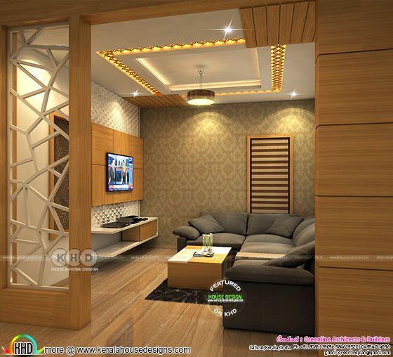 Modern Kerala Interior Designs November 2018 Hall Interior Design Modern Bedroom Interior Interior Design Living Room