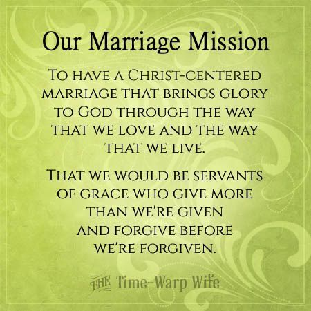 Create a Mission Statement for Your Marriage | Time-Warp Wife - Empowering Wives to Joyfully Serve