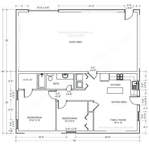 Pole Barn Floor Plans With Living Quarters Pictures