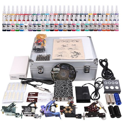 USA Dispatch Professional complete cheap tattoo kits 5 machines [MKD1-1DH(4.5-USO)] - US$89.99 : Dragonhawk tattoo supplies, tattoo kits,tattoo machines for sale global form tattoodiy.com