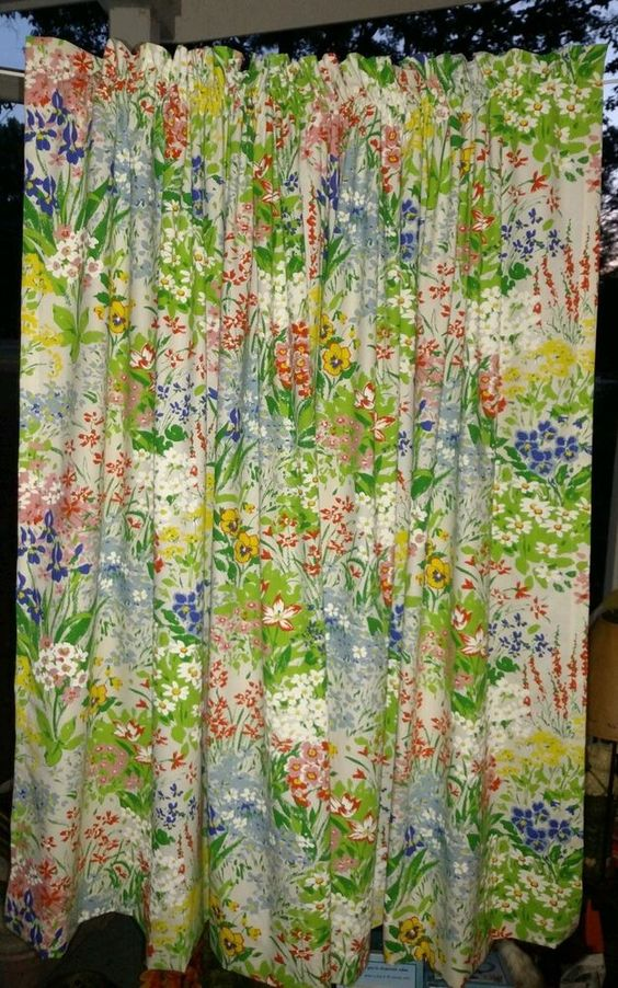 "Vintage LOT 6 Panels House N Home Floral Drapery Curtains 85x50"" EUC  #vintageHousenHome #tropicalspringcountry"