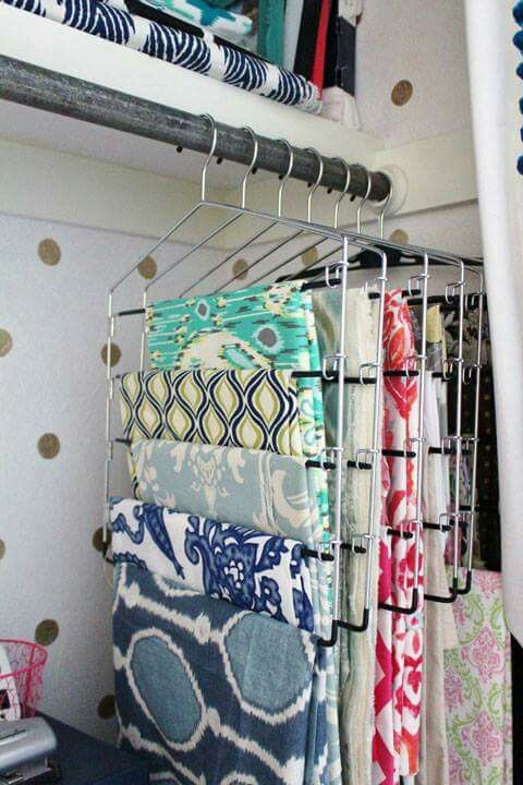 Hang fabric on multi pant hangers