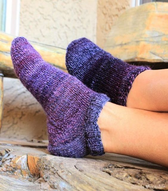 Knit Fitted Slipper Socks | SimplyNotable.com