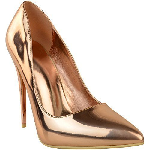 Escarpin doré métallisé