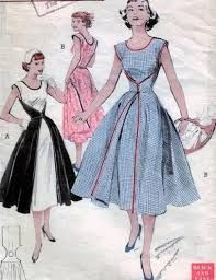 Résultats de recherche d'images pour « 1950' cocktail dress with a skirt around it »