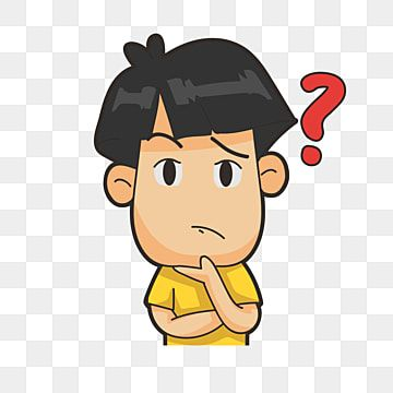 Thinking Boy Thinking Clipart Boy Clipart Think Png And Vector With Transparent Background For Free Download Kartun Ilustrasi Vektor Ilustrasi