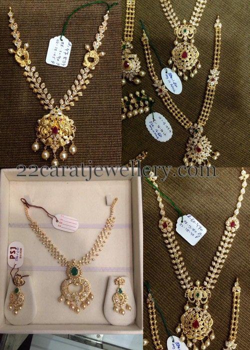 Jewellery Designs Light Weight Uncut Sets by PSJ Uncut Diamond