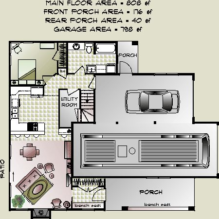 Apartment floor plans retirement and garage apartment for Modular carriage house garage