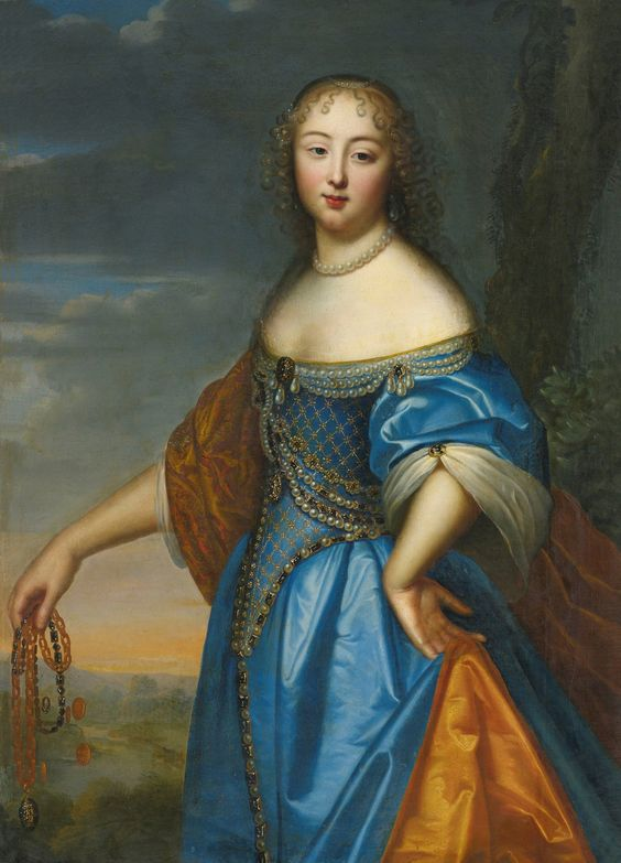 Anne de Rohan-Chabot, Princesse de Soubise (1648-1709), occasional mistress to Louis XIV from 1669-1675, during which time he was also alternating his affections between Louise de Valliere and Madame de Montespan. At least one of her eleven children was probably fathered by the King.