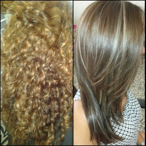 brown hair with lowlights before and after healthy hair
