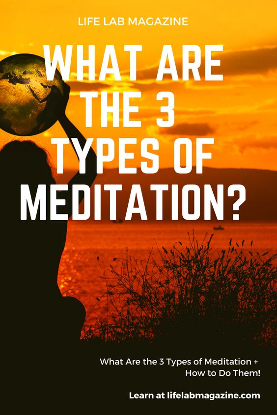 3 Different types of meditation
