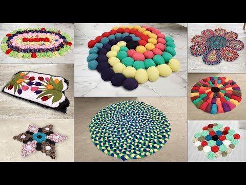 8 Beautiful Doormat Ideas Diy Handmade Things Old Clothes Reuse Youtube Diy Handmade Door Mat Diy Craft From Waste Material