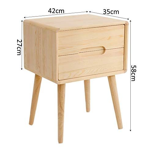 Zhaoyongli Side Table Nightstand Corner Table Nordic Bedside Table Solid Wood Side Cabinet Storage Bedroom C Bedside Table Nordic Corner Table Storage Cabinets
